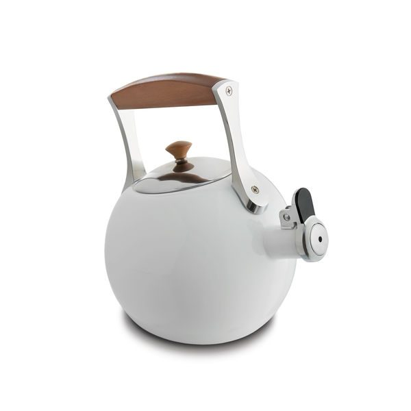 Nambe Meridian Tea Kettle (White)