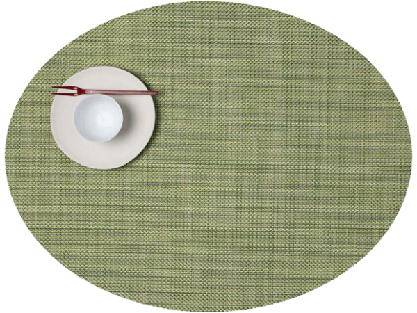 Chilewich Mini Basketweave Placemat - Dill - Oval