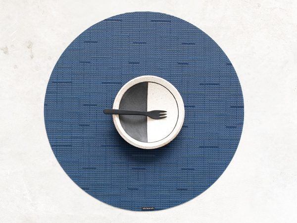 Chilewich Bamboo Placemat Round Lapis