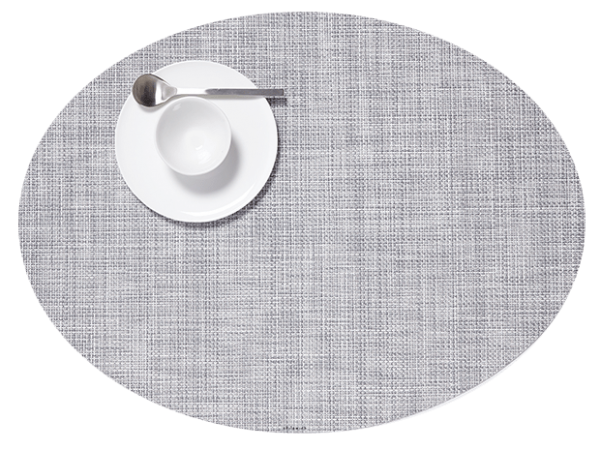 Chilewich Mini Basketweave Placemat - Mist - Oval
