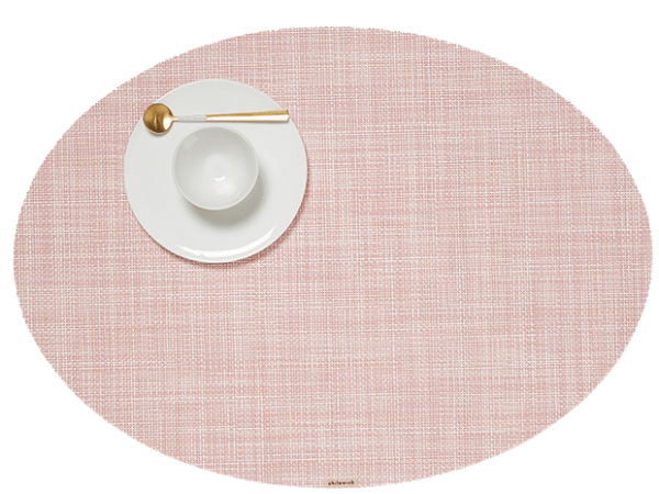 Chilewich Mini Basketweave Placemat - Blush - Oval