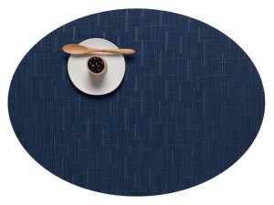 Chilewich Bamboo Placemat Oval Lapis