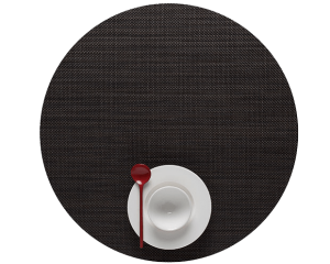 Chilewich Mini Basketweave Placemat - Espresso - Round