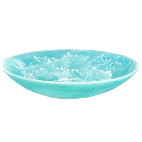 Everyday Bowl Medium Aqua Swirl