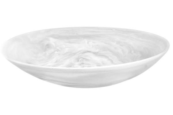 Everyday Large Resin Bowl White Swirl