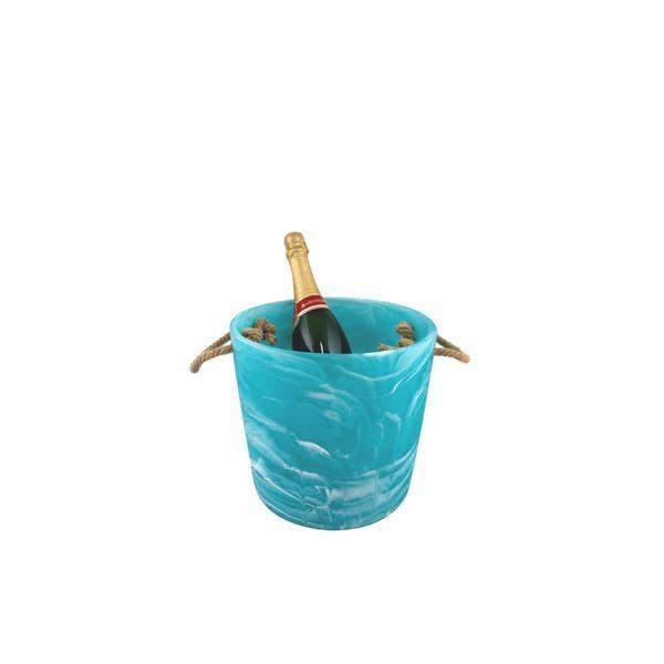 Ice Bucket Aqua Swirl