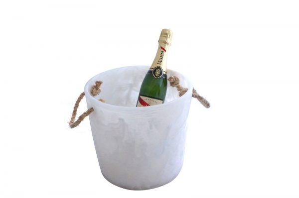 Ice Bucket White Swirl