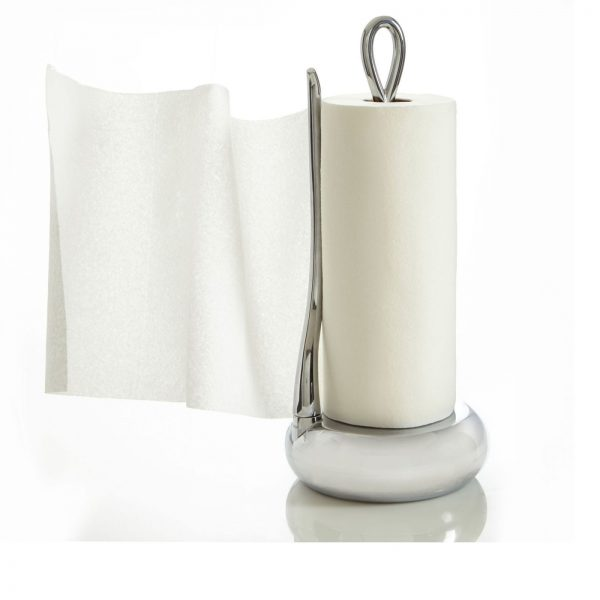 Loop Papertowel Holder with a paper towel roll