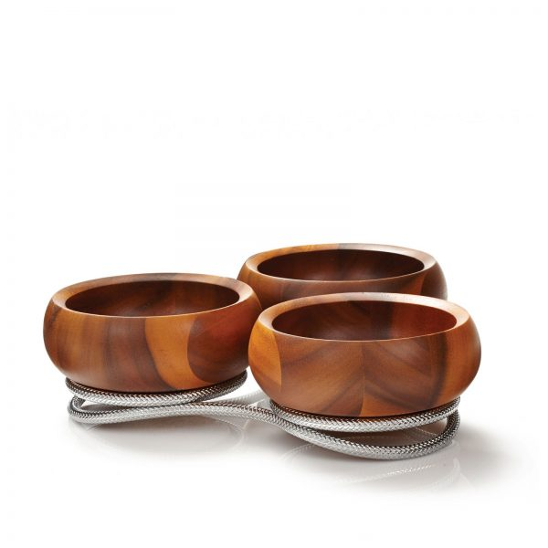 Braid Wooden Condiment Server