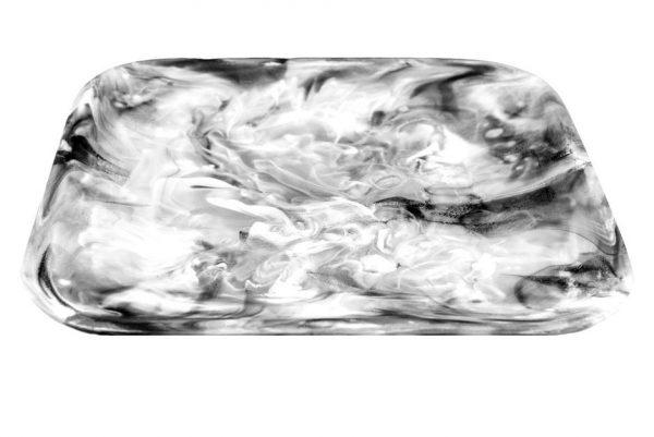 Square Tray Medium Black Swirl