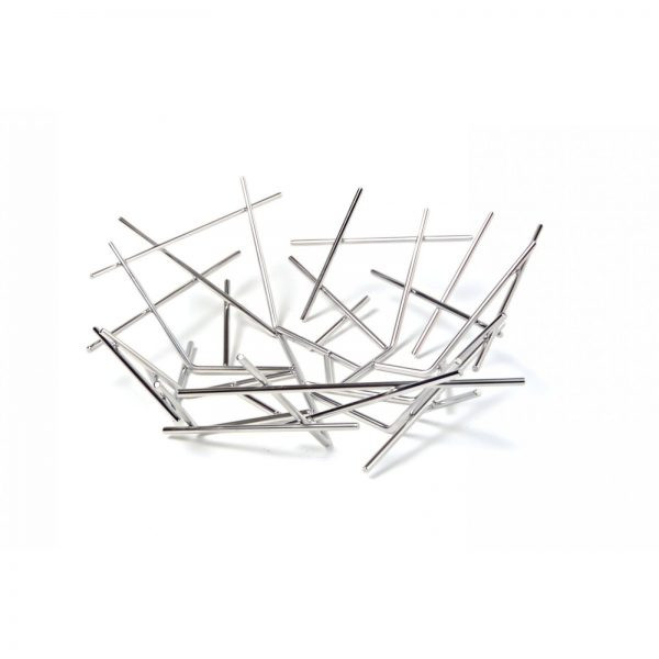 Alessi Blow Up Basket - Small - tilted