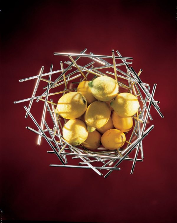 Alessi Blow Up Basket - Tall - pictured with fruit