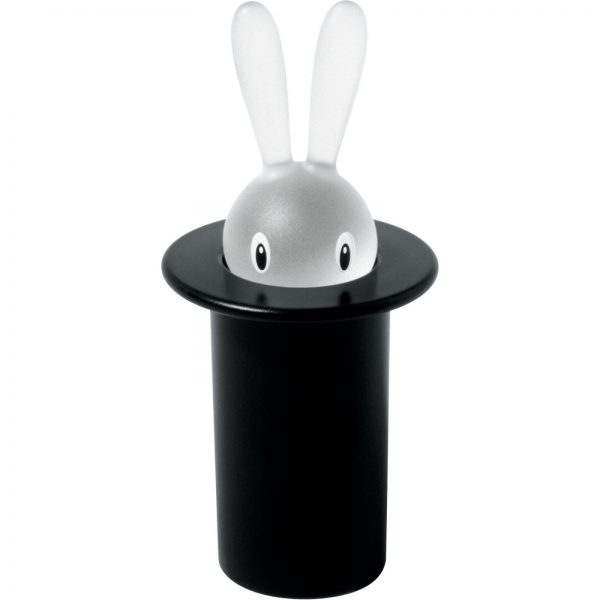 Alessi Magic Bunny Toothpick Holder - Black