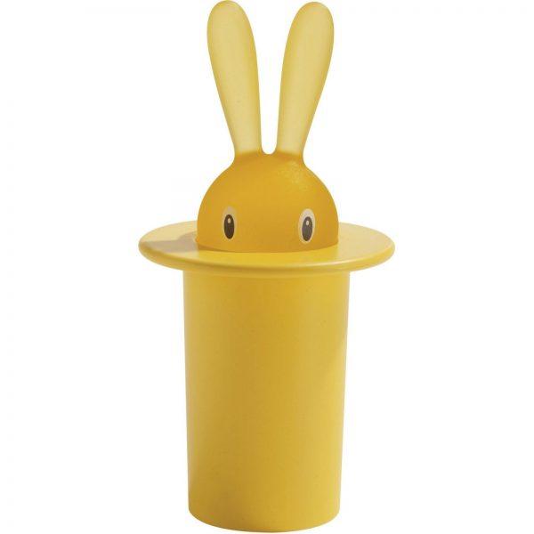 Alessi Magic Bunny Toothpick Holder - Yellow