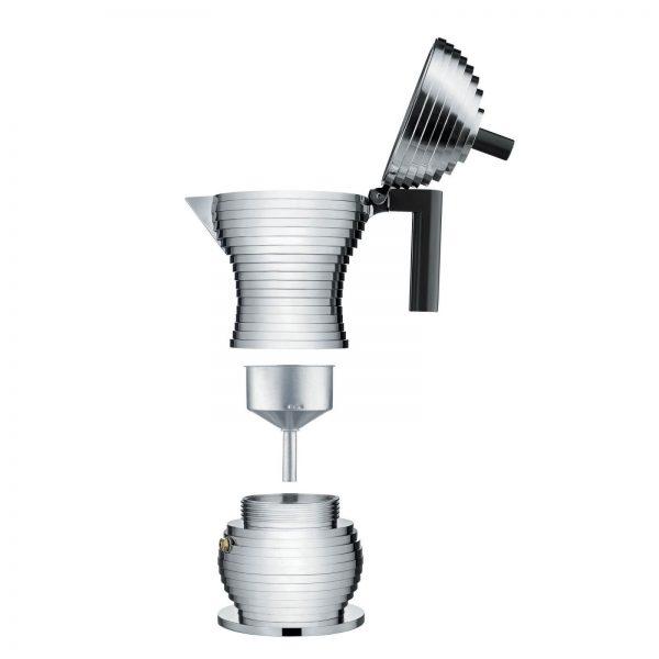 Alessi Pulcina Expresso Coffee Maker - 6 cups - black - parts
