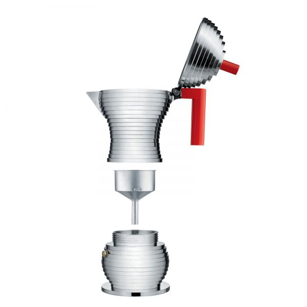 Alessi Pulcina Expresso Coffee Maker - 6 cups - red - parts