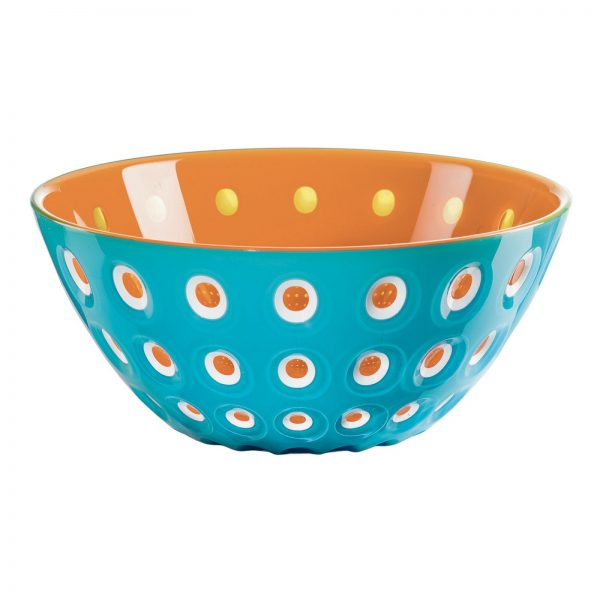 Guzzini Le Murrine Bowl - Aqua - Orange - White
