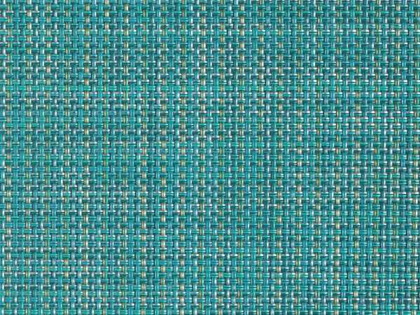 Chilewich Mini Basketweave Placemat - Turquoise - closeup to show texture