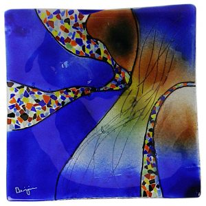 12 Inch Art Glass Plate - Square