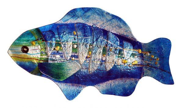 "18"" Blue Fish Plate"