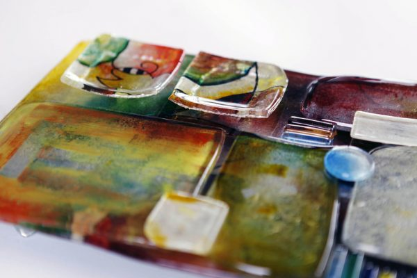 Art Glass Cheese Plate Style 1 - close up