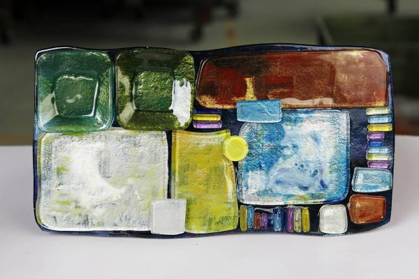 Art Glass Cheese Plate Style 2