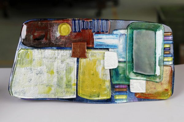 Art Glass Cheese Plate Style 3