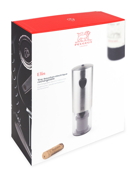 Elis rechargeable corkscrew in box