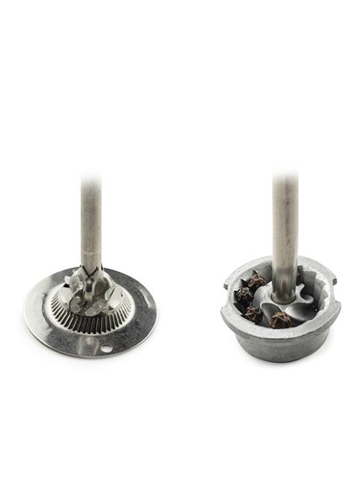 Duo Zeli salt and pepper mill grinding apparatus
