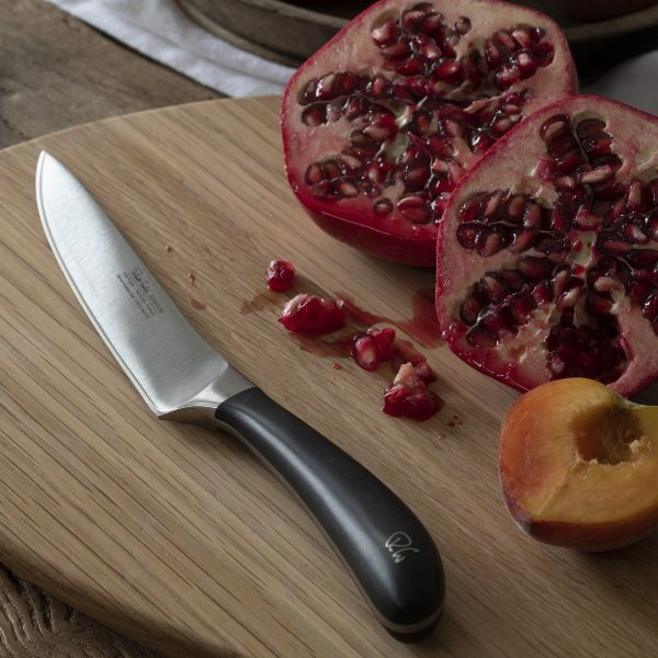 "12cm/4.5"" Kitchen Knife on cutting board"