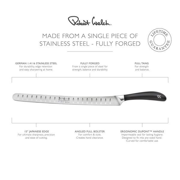 made from a single piece of stainless steel - fully forged - infographic - lifetime guarantee