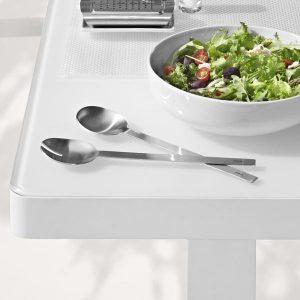 Easy Salad Servers on table next to salad bowl