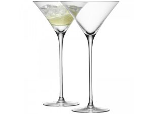 Set of 2 bar cocktail glasses