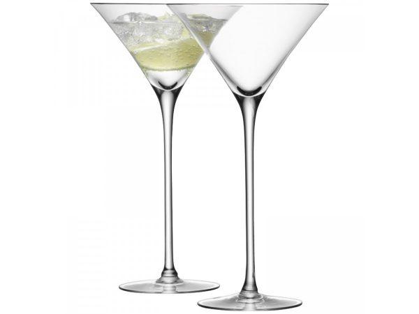 Set of 2 bar cocktail glasses