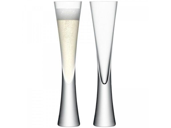 Moya Set 2 Clear Champagne Flutes