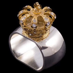 Isabella Adams Gold Crown Napkin Ring