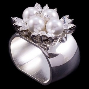 Isabella Adams Pearl & Crystal Napkin Ring