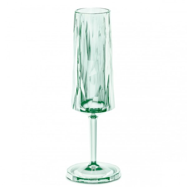 Koziol SuperGlas Fluted Champagne Glass Jade Green