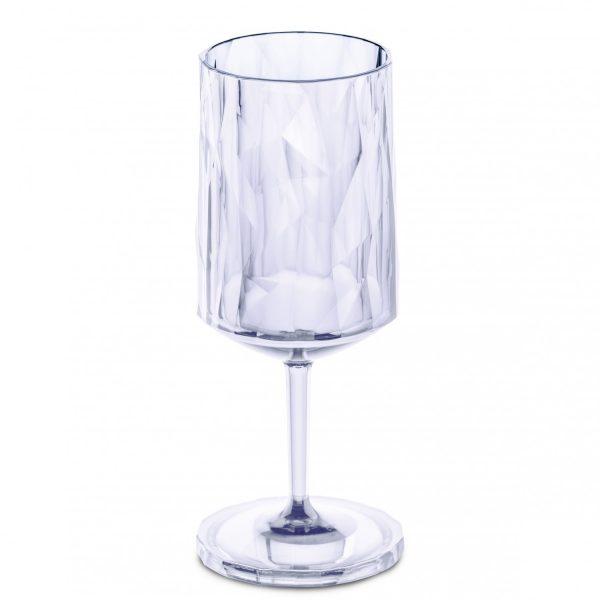 Koziol SuperGlas Stemmed Wine Glass Aquamarine Blue