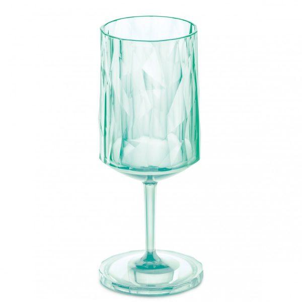 Koziol SuperGlas Stemmed Wine Glass Jade Green