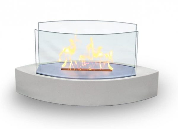Table Fireplace - White