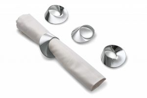 Philippi Swirl Napkin Rings Set/4