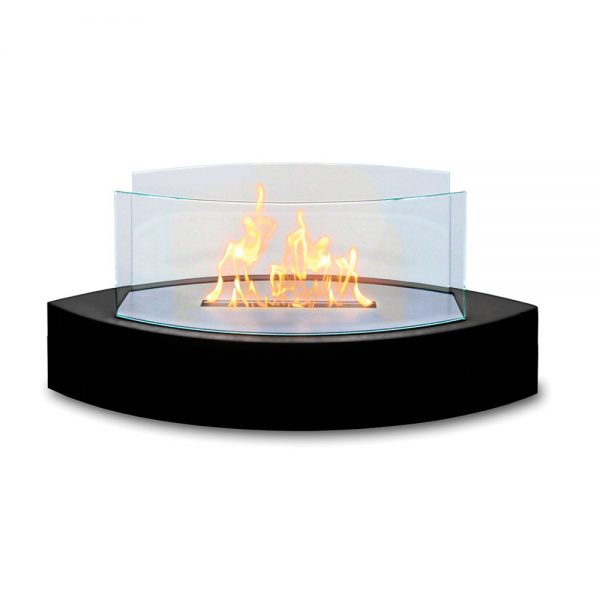 Table Fireplace - Black High Gloss Enamel
