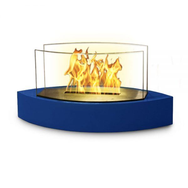Table Fireplace - Blue High Gloss Enamel