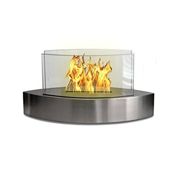 Table Fireplace - Stainless Steel