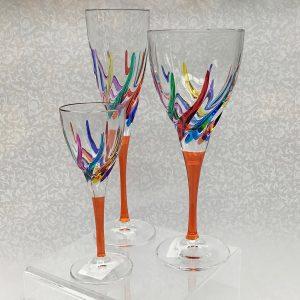 Italian Glass Trix Collection - Wine Glass, Cordial/Liquore, Champagne Flute