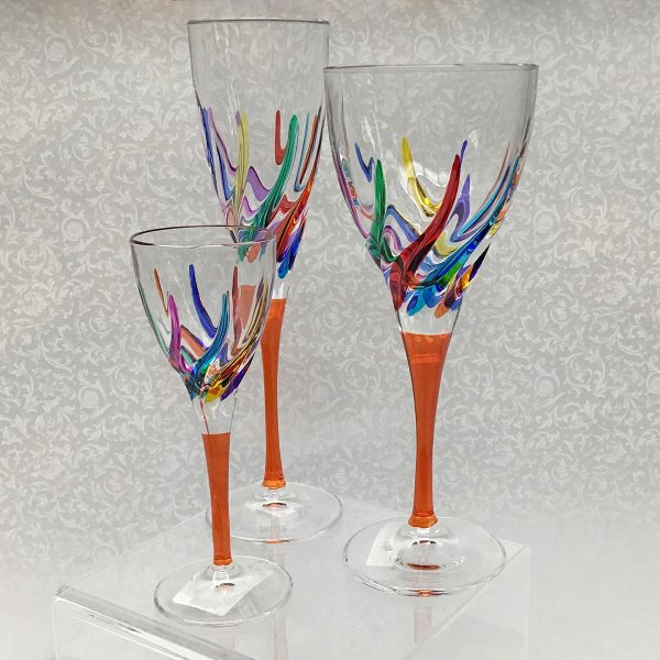 Italian Glass Trix Collection - Wine Glass, Cordial/Liquore, Champagne Flute