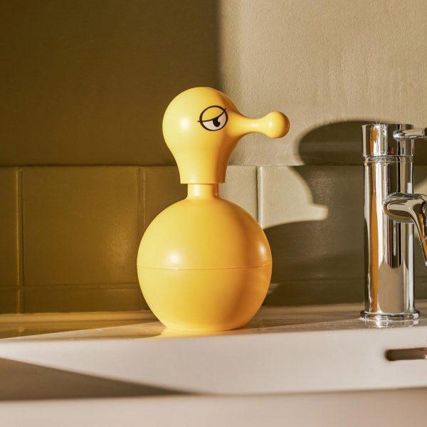 Alessi Mr. Cold Duck Liquid Soap Dispenser in bathroom or kitchen