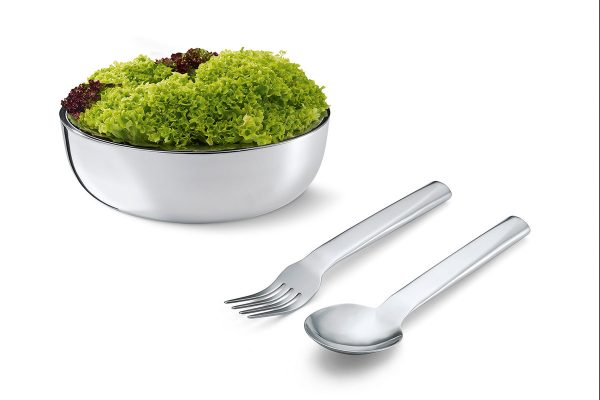 Philippi Lollo Salad Servers with salad bowl - not included