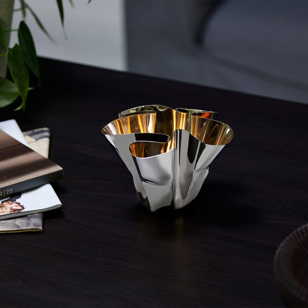 Philippi Margeaux Candle Holder displayed on coffee table